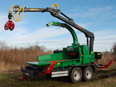 Jensen Woodchipper Custom model with crane