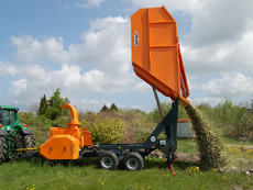 Jensen Woodchipper Custom chipper with tipper storage