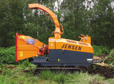 Tracked Jensen A328 chipper